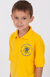 Brynmill Primary School Gold Polo Shirt