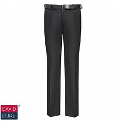 Senior Boys Slim Fit Trousers Black DL959