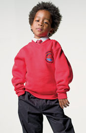 Junior V-Neck Sweatshirt Set-In Sleeves